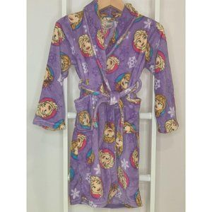 Girl's Large 10 Frozen Elsa and Anna Purple Robe